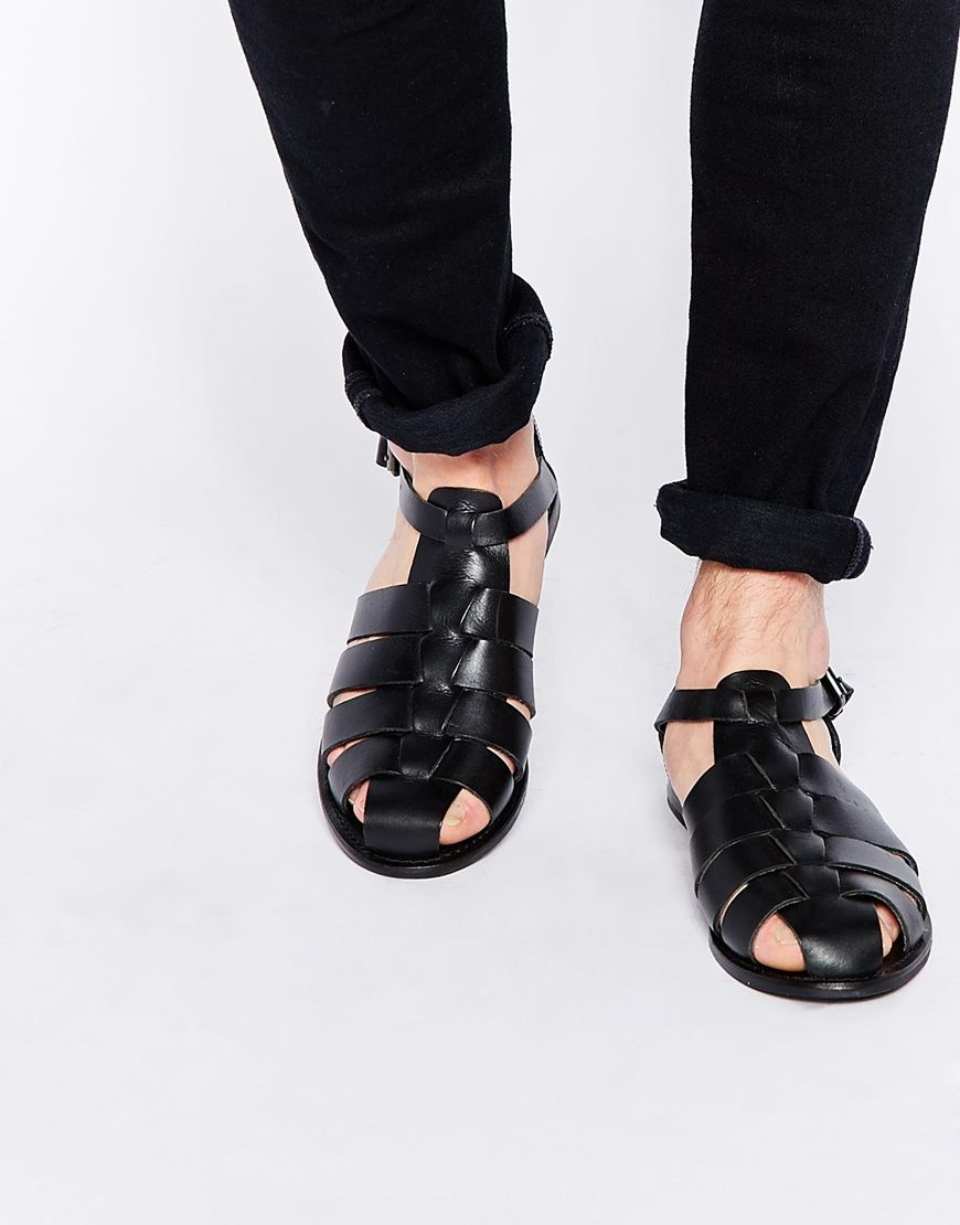 7d97786c2493 Image 1 of ASOS Gladiator Sandals in Leather
