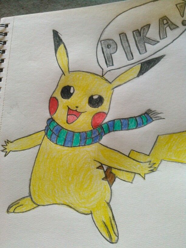 Pikachu's getting ready for winter