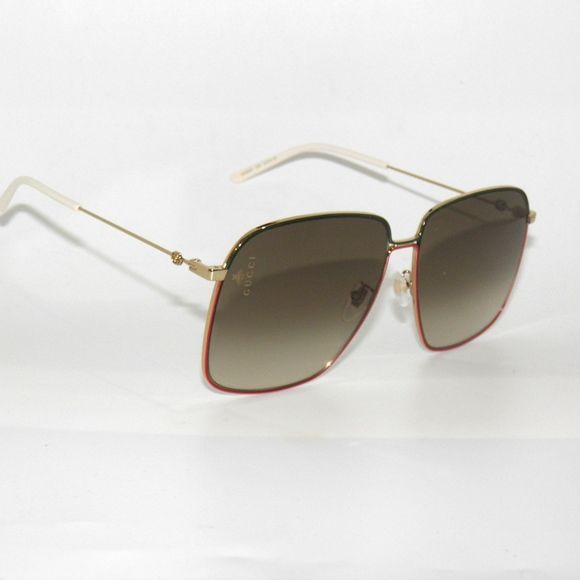 1f5f8d4341e Gucci GG0394S 003 Gold Green Red Brown Sunglasses Gucci GG0394S 003 Gold  Green Red Brown Gradient 0394 Sunglasses Gucci Accessories Sunglasses