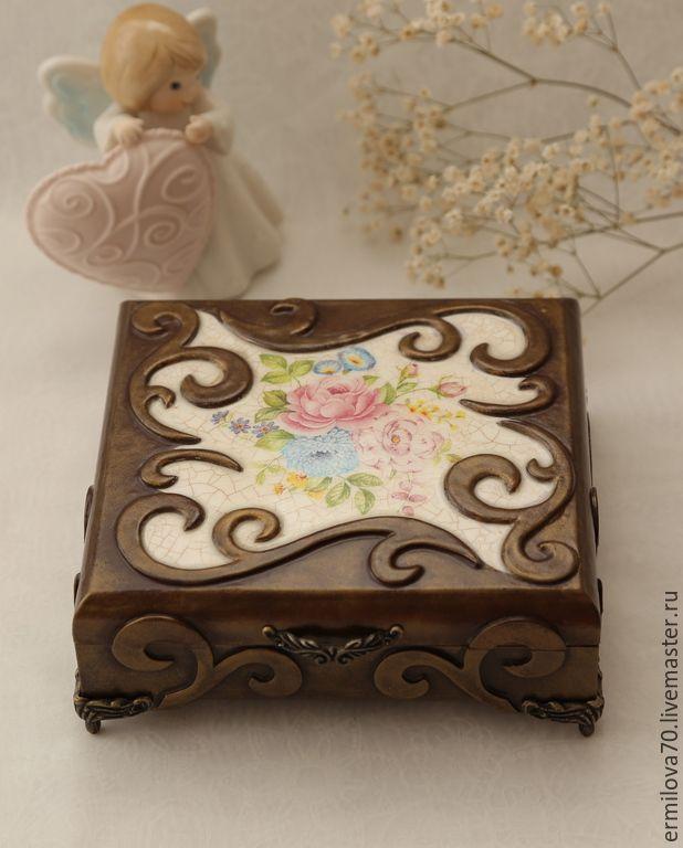 Купить Шкатулка для украшений - шкатулка, шкатулка для украшений, подарок девушке, подарок женщине, бронза