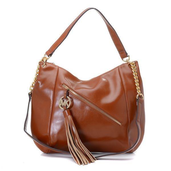 Michael Kors Charm Tassel Convertible Shoulder Bag Luggage