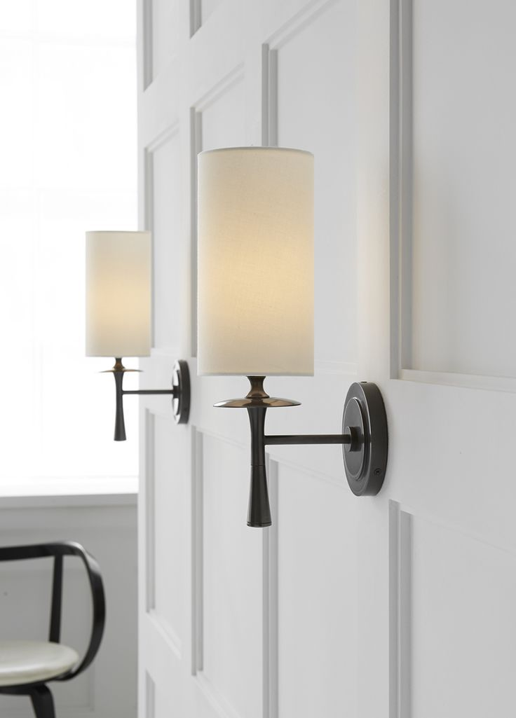 Wall Lamp Shades For Bedroom : Beautiful sconces and molding. Drunmore Single Sconce by Aerin l i g h t i n g Pinterest ...