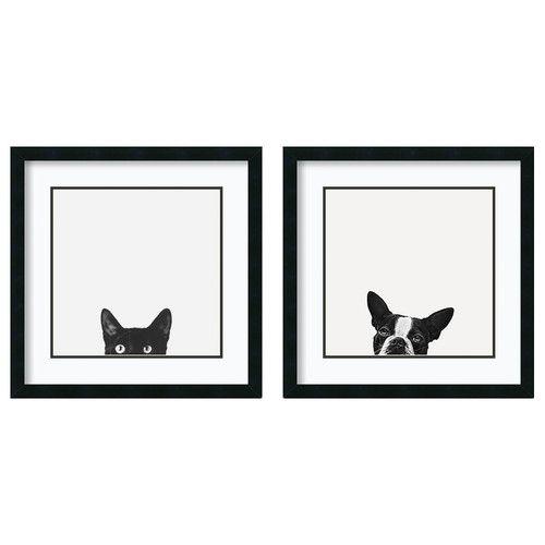 Curiosity Jon Bertelli Cat Art Print 11x14