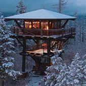 Photo of Warm & Cosy Winter Cabin Rezepte Architektur & Häuser #Architectu