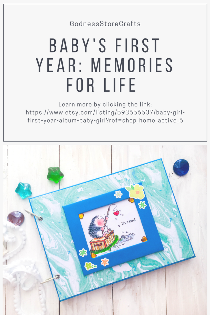 Album - notebook for a boy for the first year of life 5