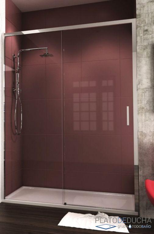 Mampara de ducha frontal jan s con una hoja fija y una - Perfil mampara ducha ...