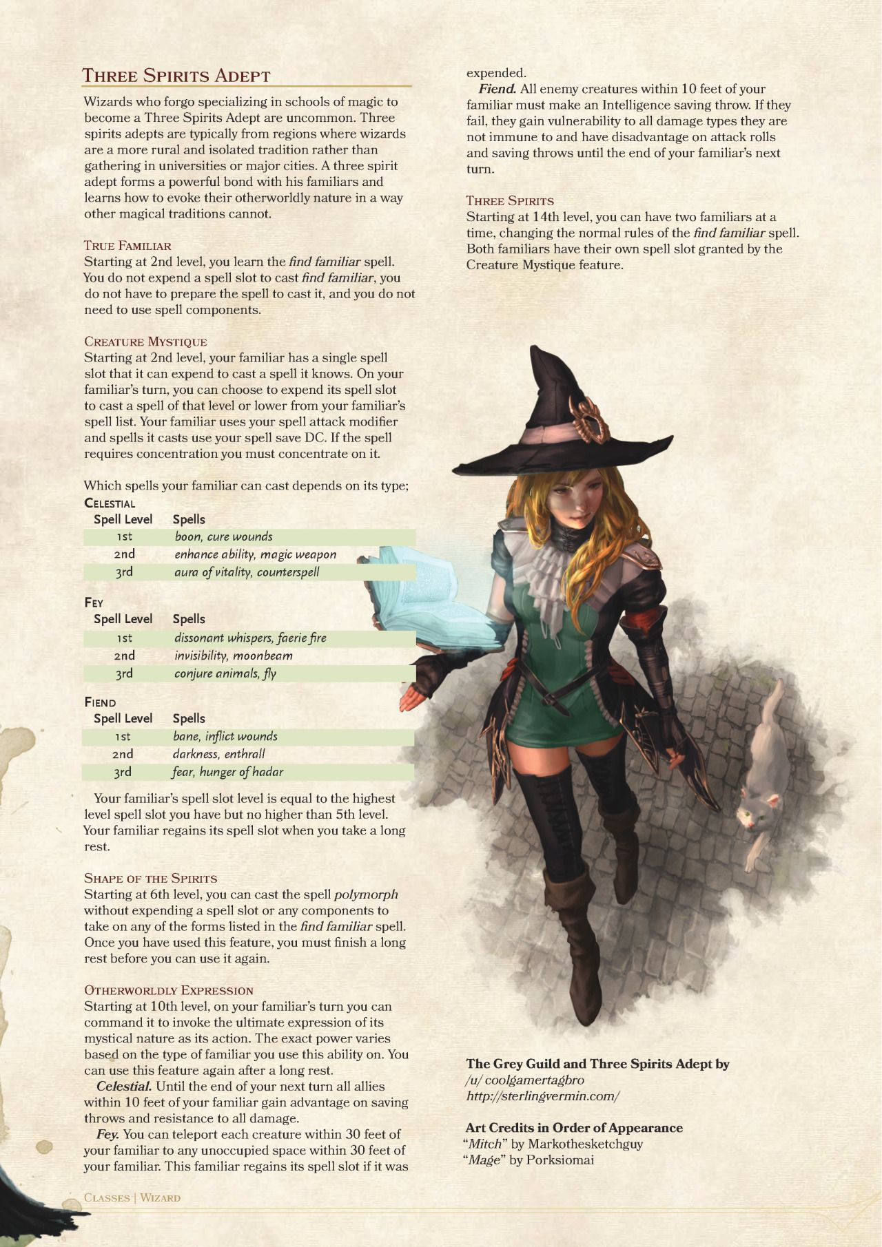 f70a3ae8f38 DnD 5e Homebrew — Grey Guild and Three Spirits Adept Wizards by ...