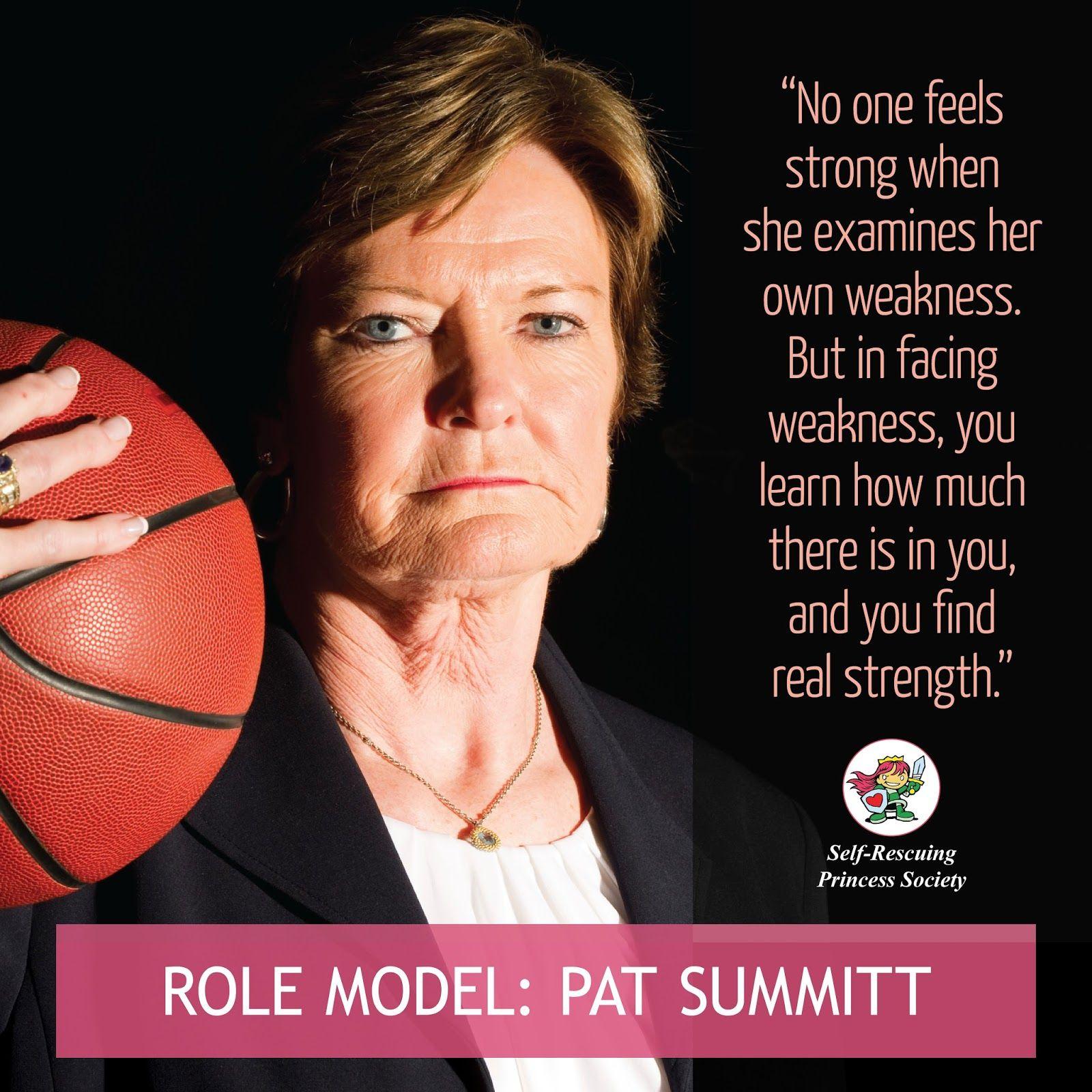 Pat Summitt Quotes: SRPS Role Model: Pat Summitt - Basketball Icon