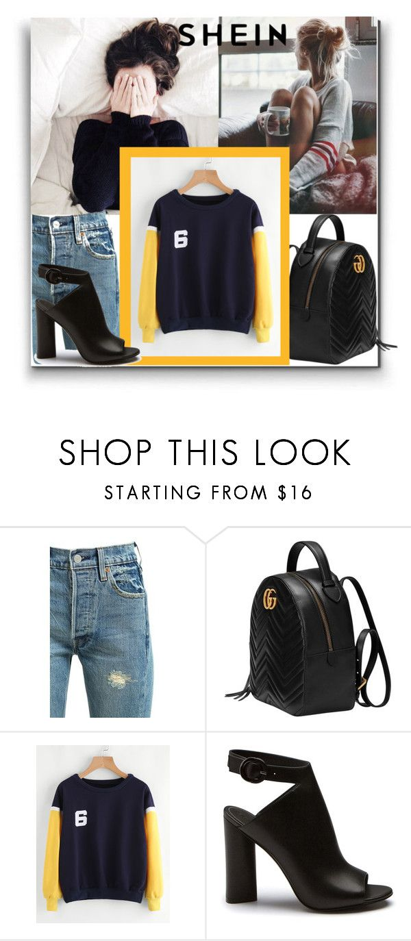 """""""SheIn"""" by elza-345 ❤ liked on Polyvore featuring Levi's and Gucci"""