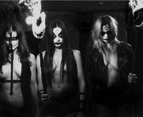 black metal naked girl