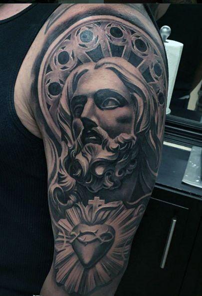 50 Jesus Sleeve Tattoo Designs For Men Religious Ink Ideas Jesus