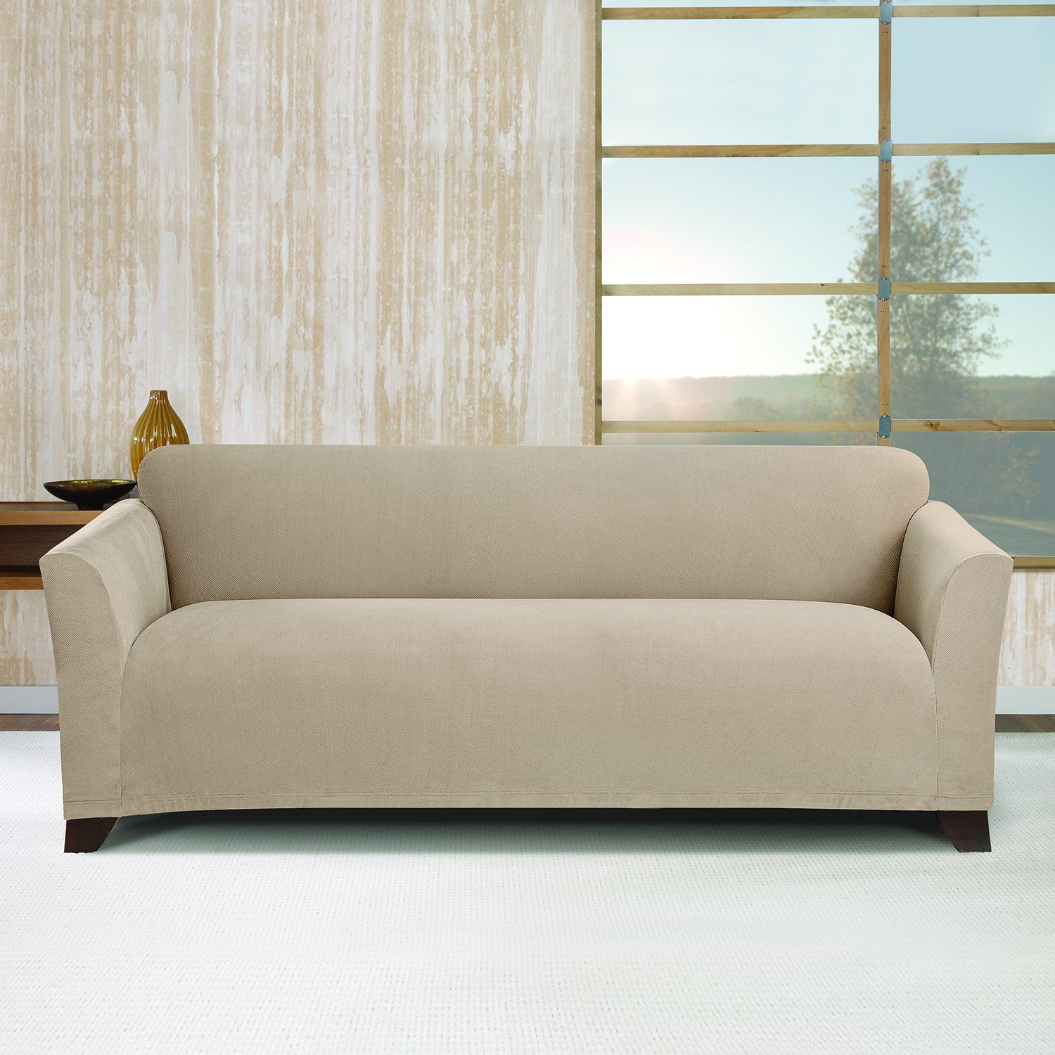 Stretch Morgan 1 Piece Sofa Furniture Cover Blue Slipcovers Sure Fit 1piece Slipcover Khaki Sf45374 You Can Get More Details By Clicking On The Image Affiliate Link