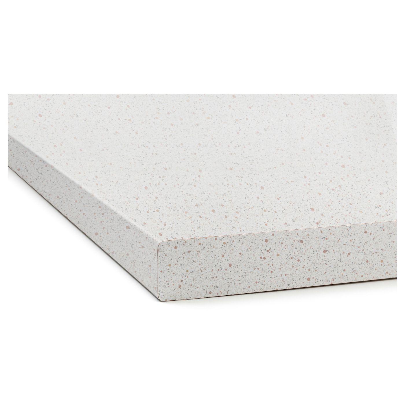 Plan De Travail Laminé sÄljan plan de travail - blanc motif pierre, stratifié 186x3