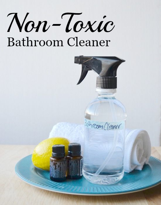 How To Make A DIY Non Toxic Bathroom Cleaner That Really Works. Homemade  With