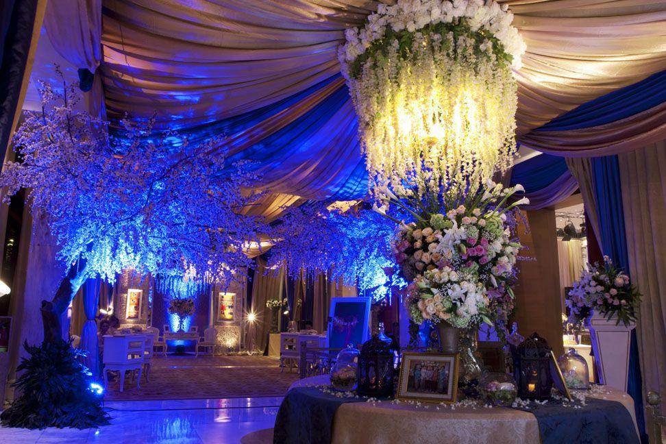 Stunning blue by mawarprada wedding decoration mawarprada for Agung decoration