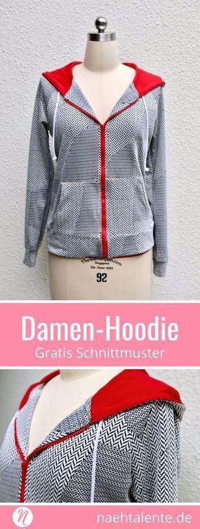 Hoodie für Damen | Freebook Gr. 36 - 54 | Nähtalente
