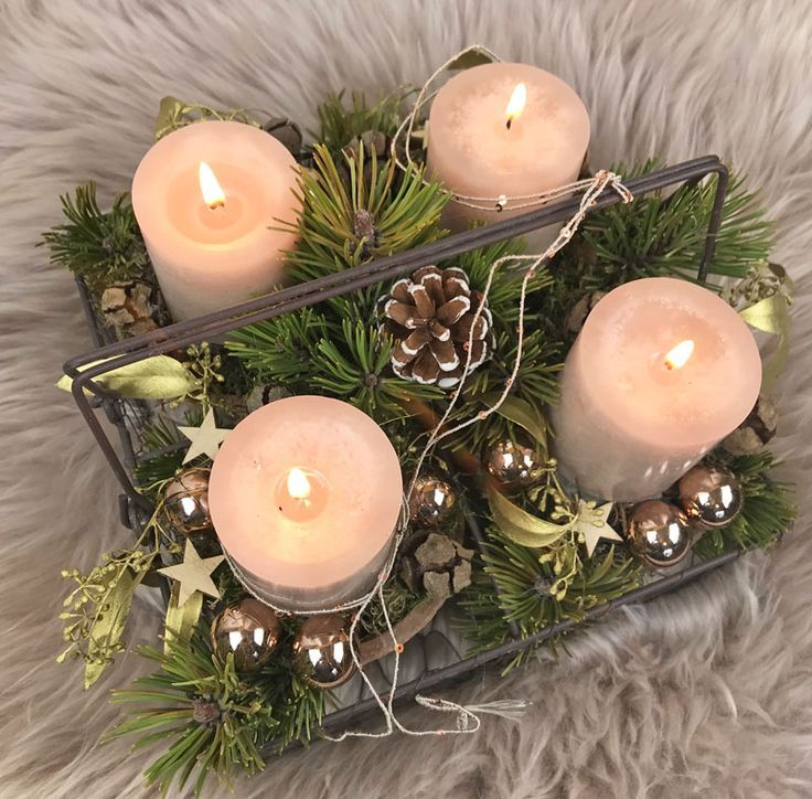 Adventskranz – mal ganz anders - #Adventskranz #anders #Ganz