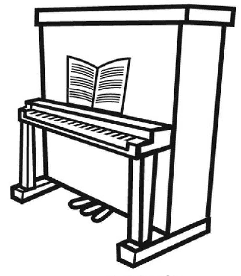 Ausmalbild Musik Klavier Kostenlos Ausdrucken Klavier Klaviertasten Ausmalen