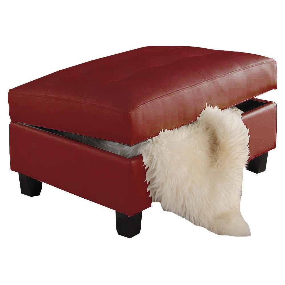 Storage Ottomans Acme Furniture Red