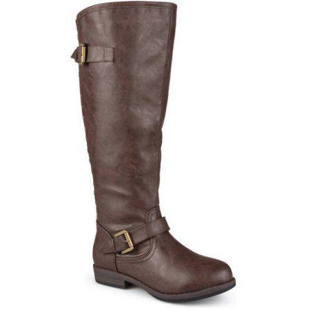 Brinley Co. Womens Wide-Calf Knee-High Studded Riding Boot ...