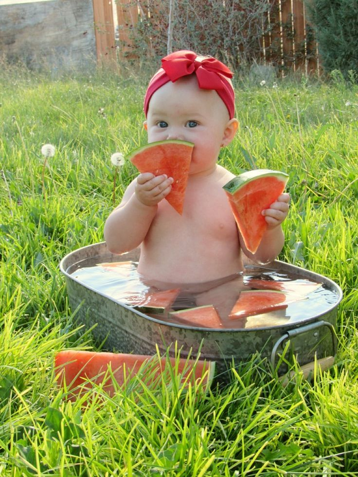 First Birthday Photos | Baby Girl | Watermelon Baby Photoshoot | Fruit Bath -