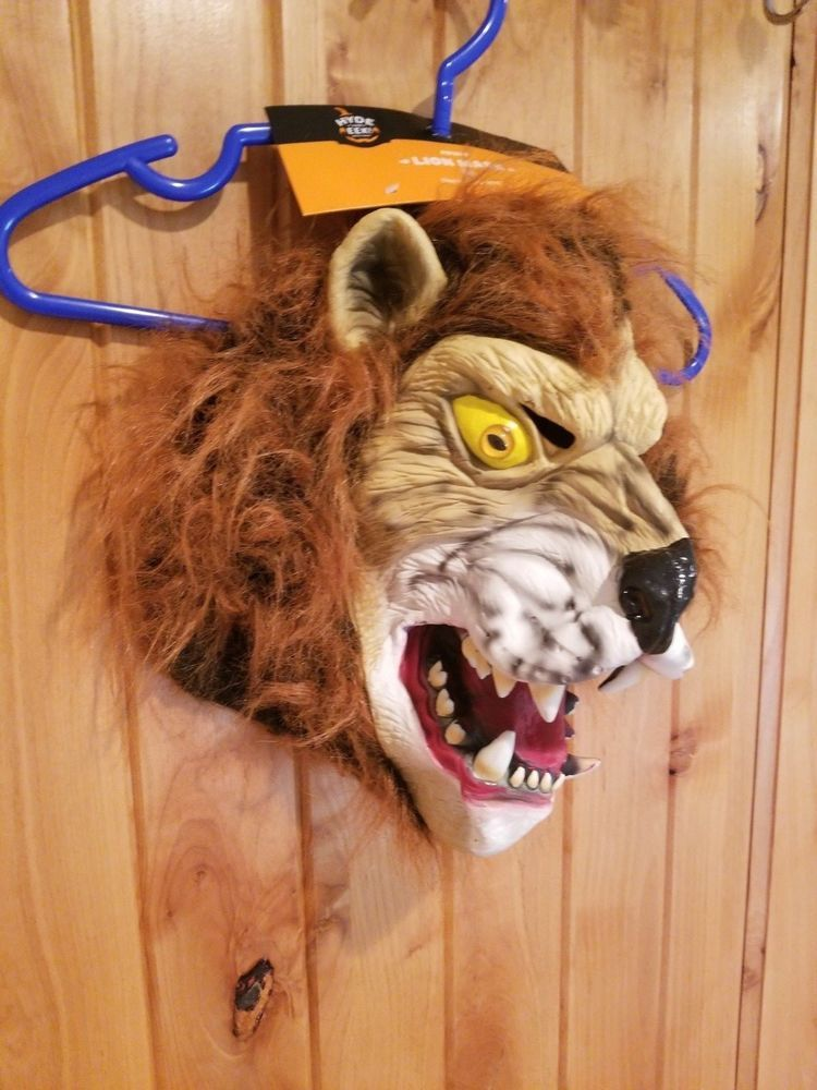 Details about Adult Brown Horse Head Halloween Rubber Mask Hyde and
