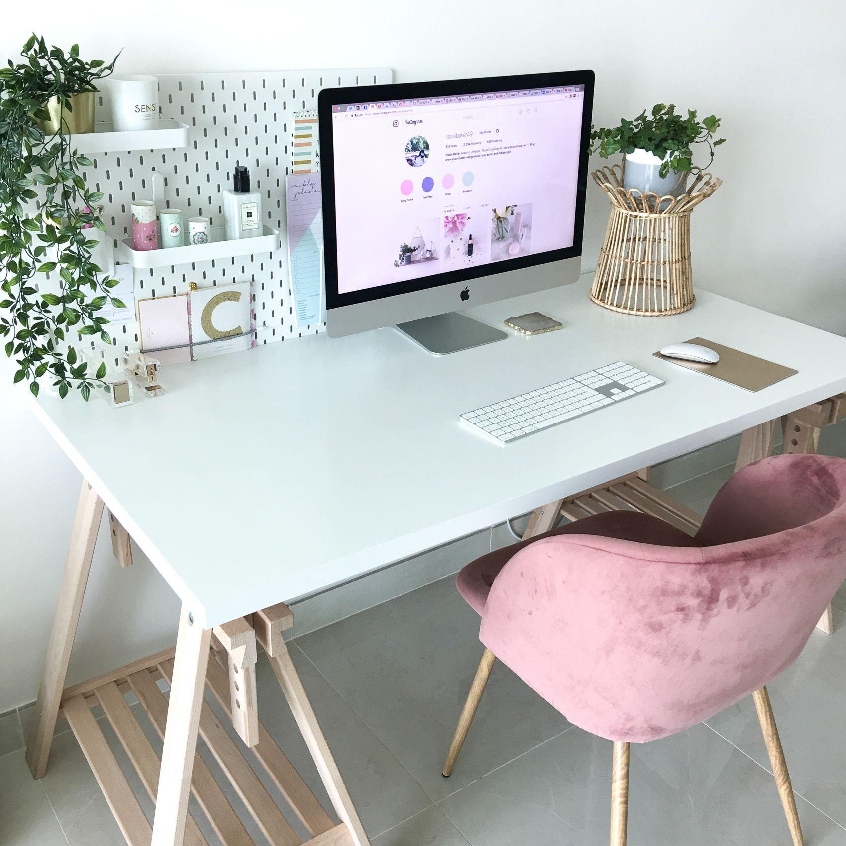 My New Desk Set Up at Home Home office desks, Office