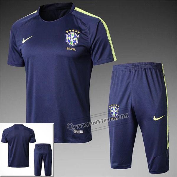 pre match nouveau ensemble maillot training bresil bleu. Black Bedroom Furniture Sets. Home Design Ideas