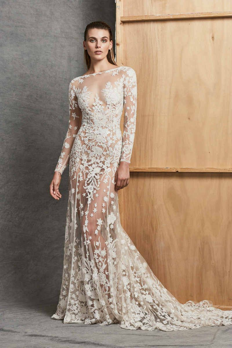 Zuhair murad fall bridal urban silver vintage wedding