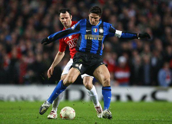 Javier Zanetti in Manchester United v Inter Milan - UEFA ...