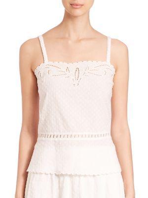 THE KOOPLES Cotton Dobby Broderie AnglaiseTop. #thekooples #cloth #anglaisetop