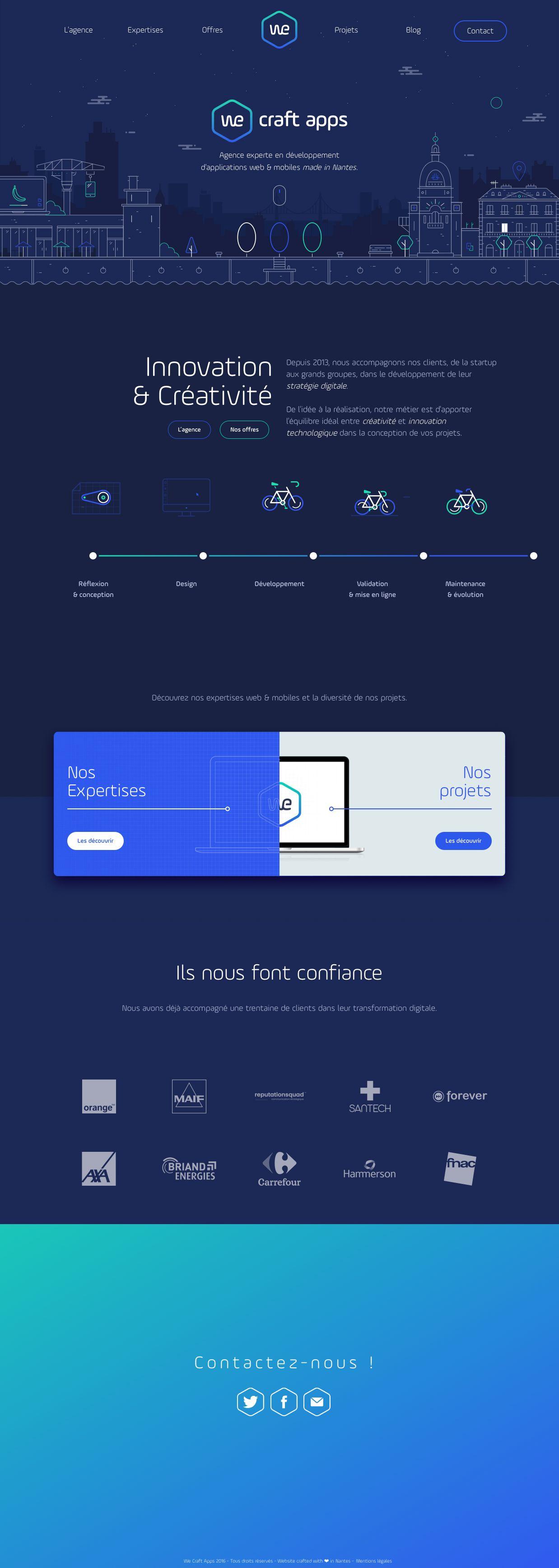 We Craft Apps Landing Page Design Inspiration Lapa Ninja The