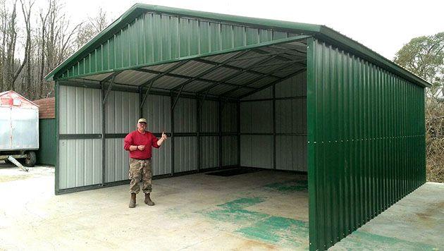 A Frame Vertical Metal Carport Enclosed Carport Carport