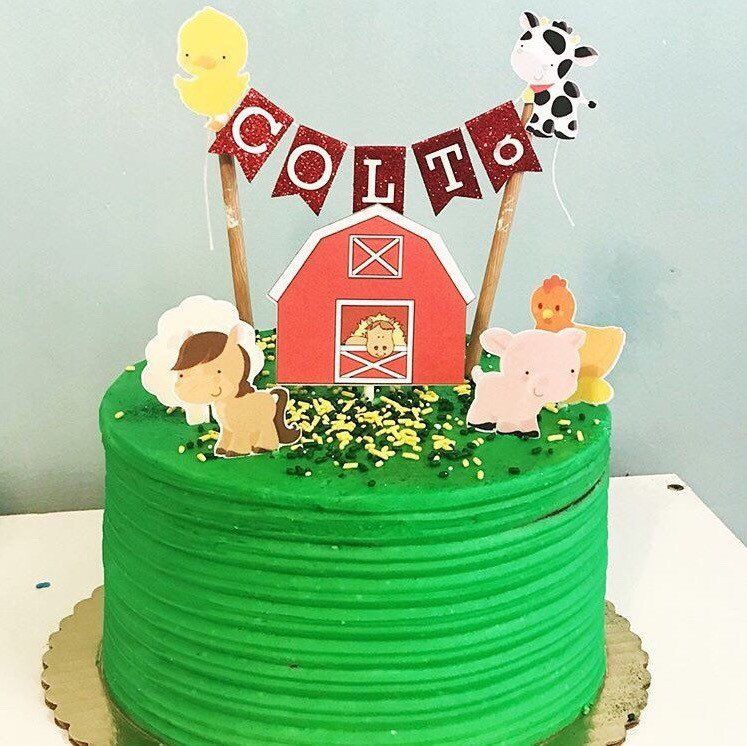 Farm Animal Birthday Cake La Granja De Zenon Tortas Animales