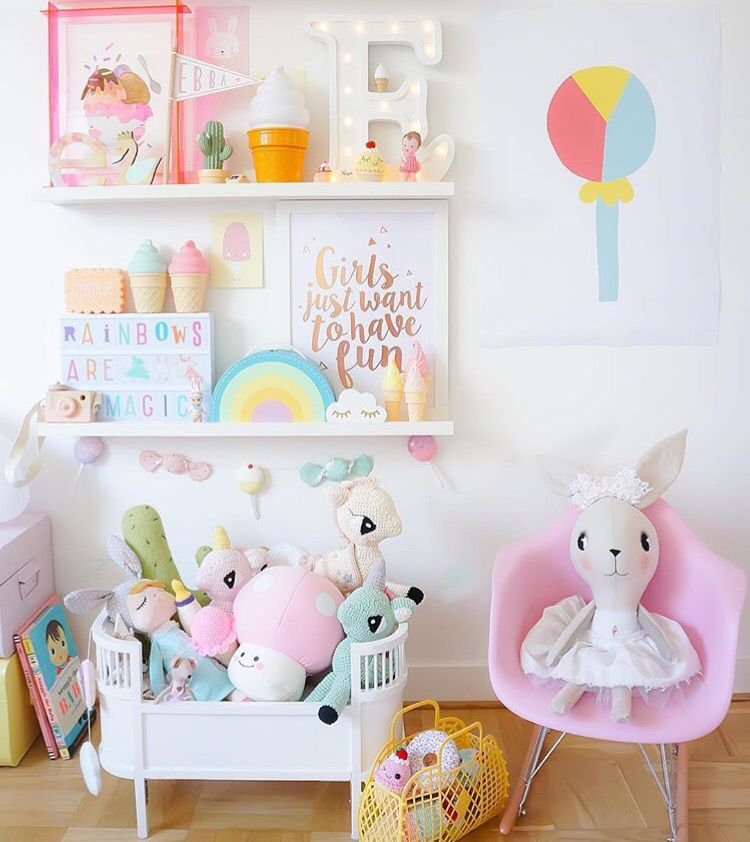 Pastels! Loving our Letter E light in this cute as anything bedroom