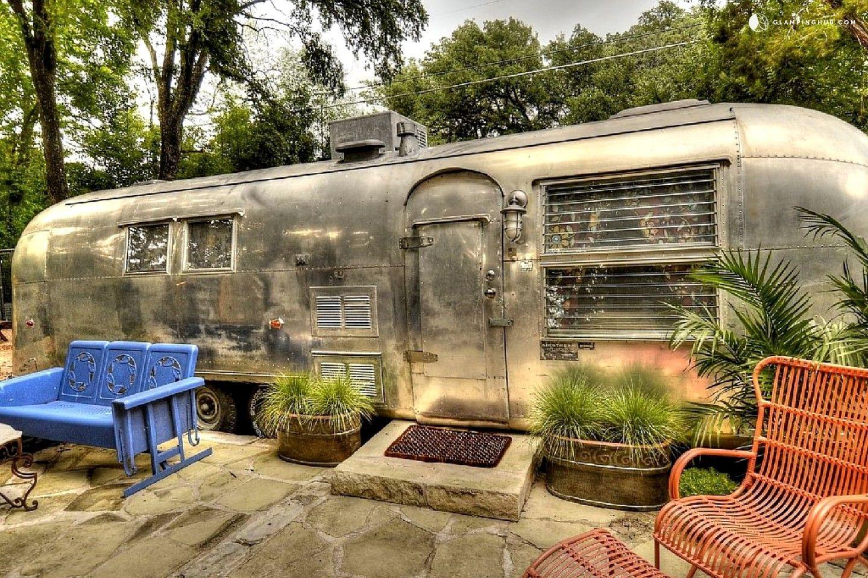 Vintage Airstream Rental set near Cameron Park in North
