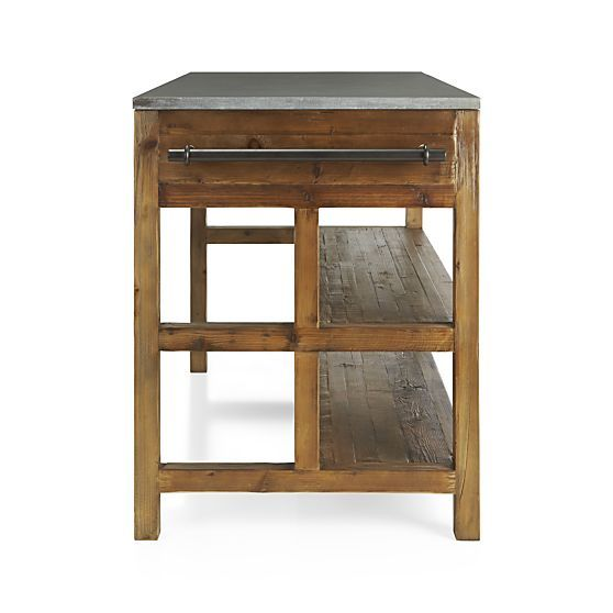 Bluestone Reclaimed Wood Large Kitchen Island + Reviews Crate and Barrel kitchen redo ...