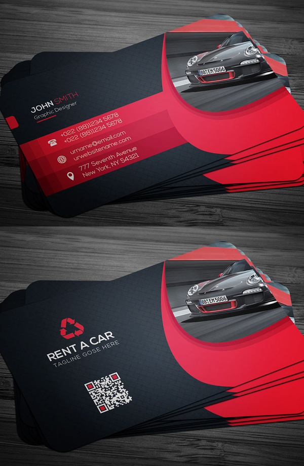 Rent A Car Business Card Luxury Business Cards Business Cards Layout Construction Business Cards