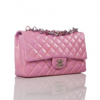 eb9b8a8cf Chanel excellent (EX Pink Lambskin Spring Heart Charm Classic Flap Bag,  Limited Edition on shopstyle.com