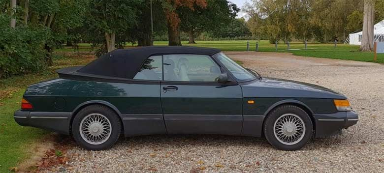 Up For Sale 1994 Saab 900s Scarab Green Convertible Saab Convertible Sale