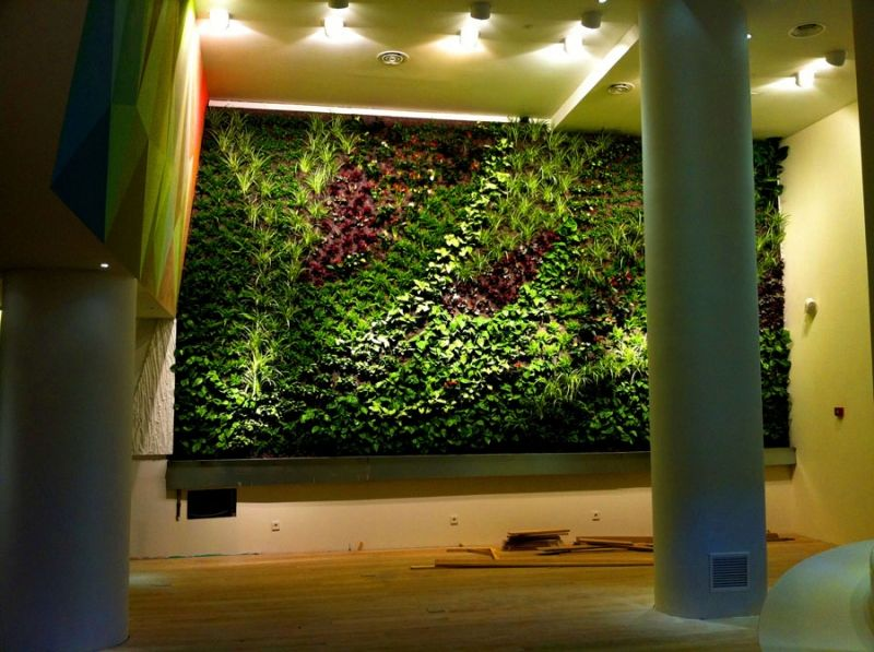 Jardin vertical interior espacios verdes pinterest for Jardin vertical interior