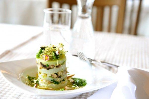 basenfasten Rezept: Kohlrabitürmchen mit Zitronen-Petersilien-Pesto von Andrea Knura