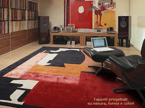 Art Design rug Burri inspired • Design tappeti