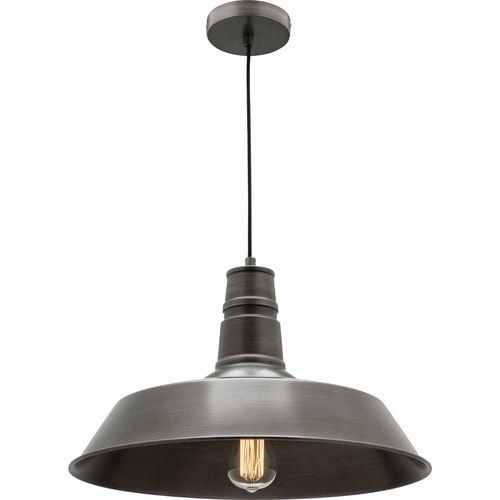Pendant Light Small Grey Metal Salon