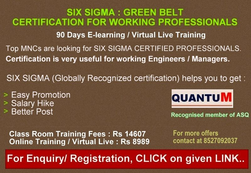 six sigma certification helps you to improve quality of a process