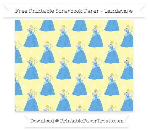Free Landscape Pastel Light Yellow Star Large Cinderella Pattern Paper - Cinderella