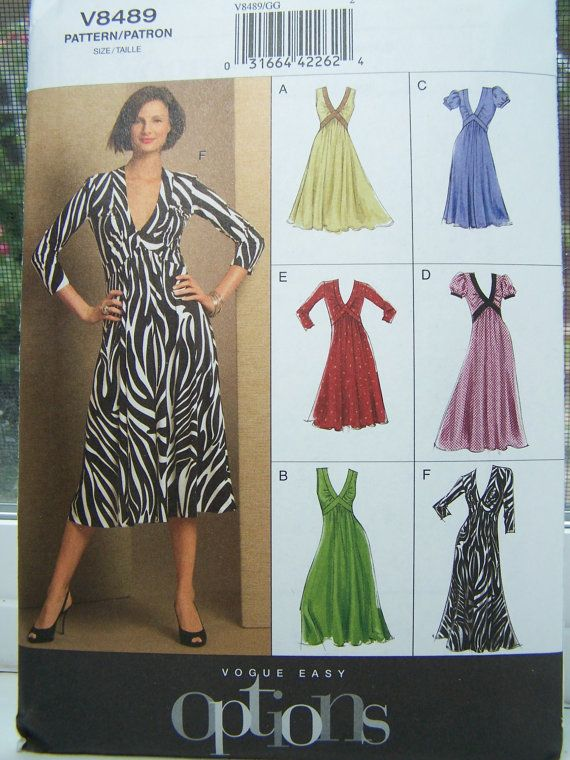 Vogue V8489 Easy Options Sewing Pattern - Women\'s Dress with Fitted ...