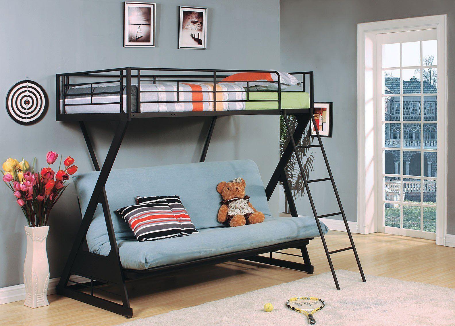 Futon Bambini ~ Dorel twin over futon contemporary bunk bed walmart want