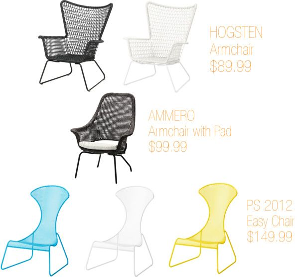 """Vintage inspired outdoor """"wire"""" chairs from IKEA 