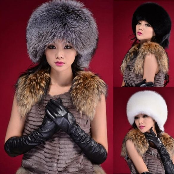 114d67a8a25 2016 Festival New Stylish New Women Fluff Cap Soft Warm Faux Fur Beanies  Ear Protect Cute Casual Hat